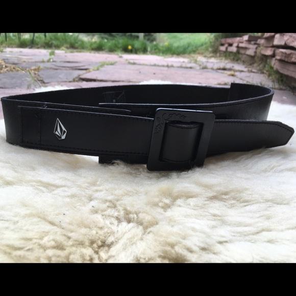 Volcom Accessories - Volcom Lambretta Black Leather Belt